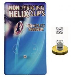 Faux Piercing Helix Cristal Argent 925