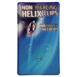 Faux Piercing Helix Cristal Acier