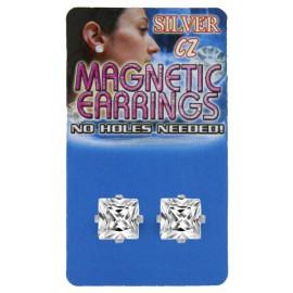 Piercing Fausse Boucle d'oreille Piercing Gros Cristal Carré 8mm