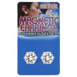 Piercing Fausse Boucle d'oreille Piercing Gros Cristal Rond 8mm