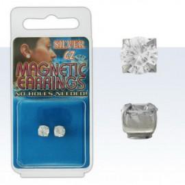 Piercing Fausse Boucle d'oreille Cristal rond Argent 925
