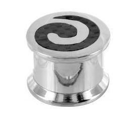 Piercing Plug Acier Spiral Carbone