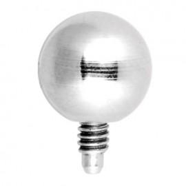 Piercing Microdermal Acier Petite Boule