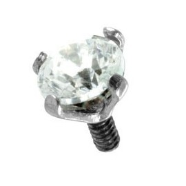 Piercing Microdermal Acier Cristal Serti
