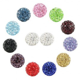 Boule piercing cristal