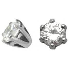 Accessoire Piercing Cristal Serti en Argent 925