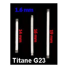 Tige Piercing Langue Titane G23