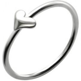 Piercing Nez Anneau Coeur Argent 925