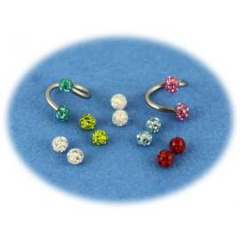 Pack Piercing Spiral Boule Cristal 7 Couleurs