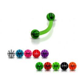 Piercing Arcade Boule Rayé Bioflex