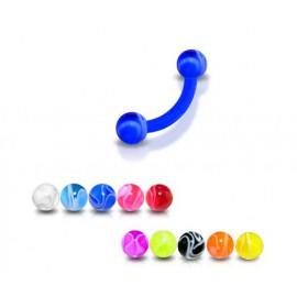 Piercing Arcade Boule Multi Couleurs Bioflex