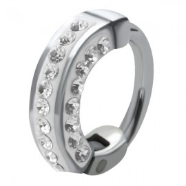 Helix anneau acier multi-cristaux