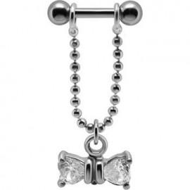 Piercing Helix Cristal Ruban Pendant Argent 925