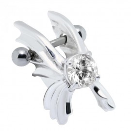 Piercing Helix Acier Superbe Papillon