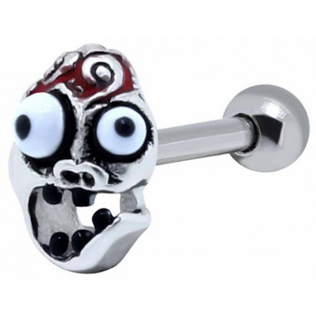 Piercing Helix Acier Tête de Zombie