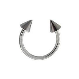 Tragus anneau fer à cheval pic acier