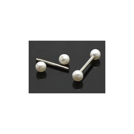 Piercing Langue Acier Boule Perle