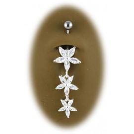 Piercing Nombril 3 Fleurs