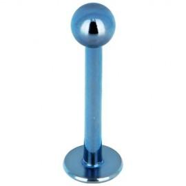 Labret acier boule bleu