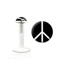 Labret bioflex motif peace and love noir