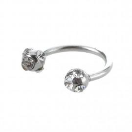 Labret anneau fer à cheval boule acier