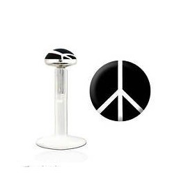Tragus bioflex motif peace and love noir