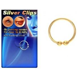 Faux nez argent doré anodisé anneau septum