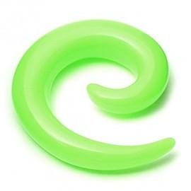 Ecarteur silicone jaune fluo spiral