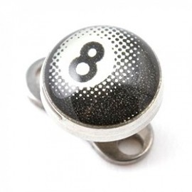 Microdermal acier chiffre 8
