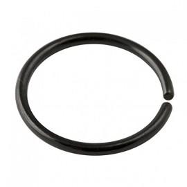 Nez anneau fin acier noir anodisé