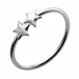 Nez anneau double étoile argent 925