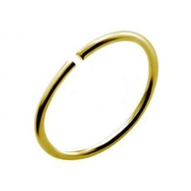 Nez anneau fin plaqué or 18k