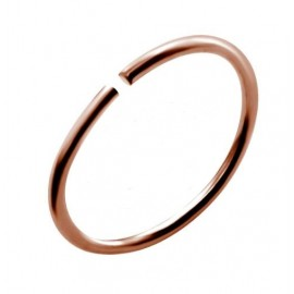 Nez anneau fin acier rose anodisé