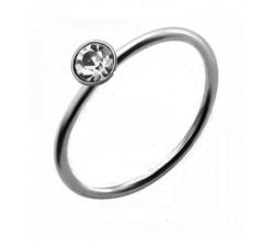 Nez anneau cristal argent 925