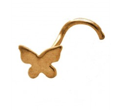 Nez papillon courbée plaqué or 18k