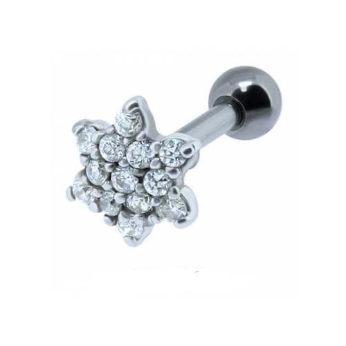 Helix acier motif fleur multi cristal
