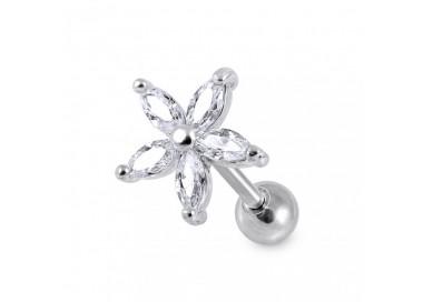 Helix acier gande fleur cristal