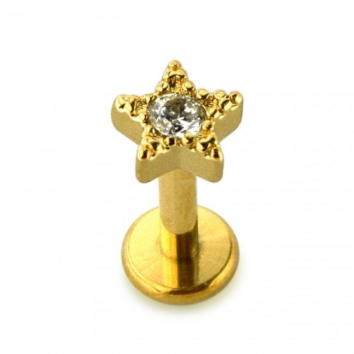 Helix petite étoile plaqué or