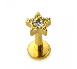 Tragus petite étoile plaqué or